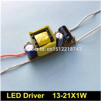 5 pcs LED Driver 13-21X1W 220V for high power led lamp E27 E14 GU10 transformer 15W 18W 20W 300ma Constant Current driver