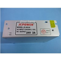 best price 1 pcs DC 24V 2A Regulated Switching Power Supply,output DC 24V 2A 48W Voltage transformer for  LED strip lamp