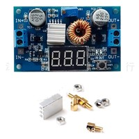 Hot Sale 5A high-power 75W DC-DC adjustable step-down module with a voltmeter display