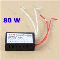2014-80W 220V Halogen Light LED Driver Power Supply Converter Electronic Transformer