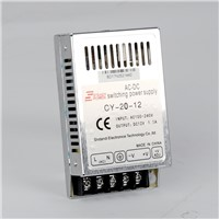 CY-20w CE approved 20w 24v 0.8a / 5v 3a / 12v 1.6a ac dc single output regulated power supply ultra-thin