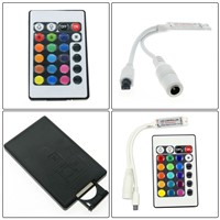 RGB LED Controller DC12V Mini 24Key IR Remote Controller For 3528 5050 RGB LED Strip.