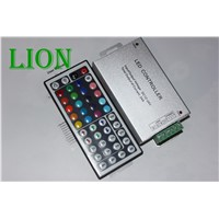 24A 44 keys IR remote control RGB led controller Plastic+Aluminum DC 12V-24V for 5050 / 3528 led strip Good stability