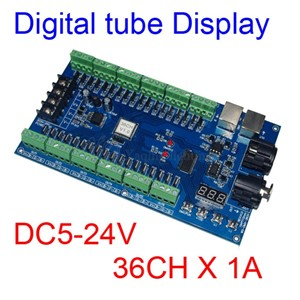 36CH DMX512 dimmer Controller,36 channel DMX decoder 13group RGB output,36CH HV LED Driver,MAX 3A XRL 3pin controller LED strip