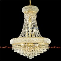 Modern Elegant Rustic Chandelier Lamps Gold Clear K9 Crystal Chandelier Living Room