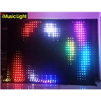 P10 3 mtr x 6 mtr LED Video Curtain Star Cloth Matrix  Backdrop Wedding Stage DJ Pub DMX Control With SD Card