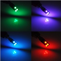 AutoEC 1 set T10 194 w5w RGB 5050 6 SMD Multi Colors Changing LED Lamp Colorful Car Interior Light with Remote Control 16 colors