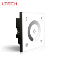 LTECH New Led Dimmer 2.4G RF Wireless Controller 100-240V Glass Touch Panel Dimmer With CV Receiver Light Dimming DX1+R4 FS