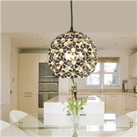 Modern Silver Crystal Chandelier E27 Light Fixture Aluminum Hanging Lamp Crystal Light for Dining Room Bedroom Lamps WPL034