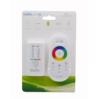 2.4G Wireless RF RGB Led Strip Controller Dimmer With Wall Mounted Touch Remote For RGB Led Strip DC12-24V