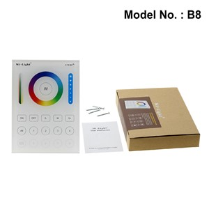 Mi.Light RGB + CCT Remote Controller 2.4G 8 Zone Smart Panel Remote Controller / 5 In 1 Smart LED Controller DC12-24V