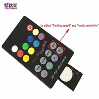 DC12-24V 18 Keys Audio input Wireless RF Remote Controller,LED Music Sound Control RGB led Controller Dimmer RGB LED Tapes light