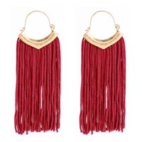 F.J4Z 2017 Popular Tassel Earrings Fashion Exquisited Anti-Gold Alloy Long Tassel Chandelier Earrings for women collier Bijoux
