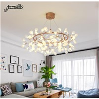 2017new modern personality tree chandelier LED lamp Firefly Creative Arts bedroom chandelier living room restaurant