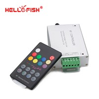 12-24V 18 Keys  Audio input Wireless RF Remote Controller,LED Music Sound Control RGB led Controller Dimmer for RGB LED Strips