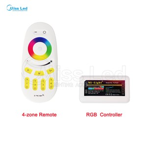 Wholesale Remote+WiFi+RGB LED Controller/2.4G wifi controller 4-zones For RGB Led Strip Light Lamp Bulb Wireless RF