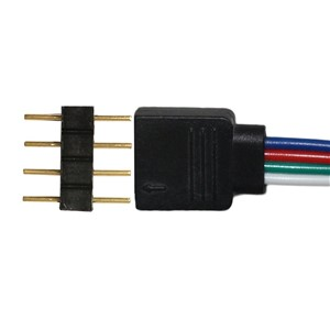 10pc/lot 4pin RGB connector, 4 pin needle, male type double 4pin, small part for LED RGB 3528 and 5050 strip
