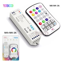 Mini touch switch Wireless RF Remote M4/M8+M4-3A receive controller for 5050 3528 rgbw led strip,DC12-24V;4A*3CH