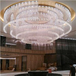 Hotel Lobby Crystal Chandelier Lighting Modern Luxury Large Big Cristal Chandeliers Light KTV Club Wedding Centerpieces Decor