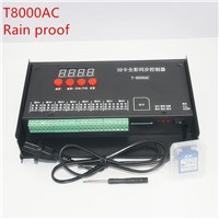 LED controller T8000 SD Card Controller for WS2801 WS2811 LPD8806 8192 Pixels DC5V waterproof Rainproof controller AC110-240V