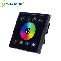 OSIDEN DC12V 24V 4A*4CH Black Panel Digital Touch Screen RGBW Controller  Dimmer  Home Wall Light Switch For RGBW LED Strip Tape