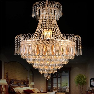 Lustre K9 Gold Crystal Chandelier Remote Control Modern Led Chandelier Lighting Bedroom Living Room Dining Room 110V 220V