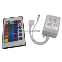 12V 6A 2A x 3CH 72W 24 Key Wireless IR Infrared Remote LED Controller for 3528 5050 RGB LED Strip Light Tape