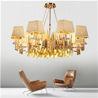 gold chandelier lighting modern living room restaurant bedroom LED hanging chandelier lamp for dining room