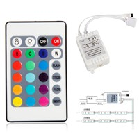 Practical Mini 24 Key IR Remote Controller Box DC 12V 6A For 3528 5050 RGB LED Light Strip Connector