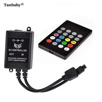 Tanbaby Mini 20Key Infrared Music LED Remote Controller DC12-24V 6A Round RGB led controller for LED Strip Color Changing Effect