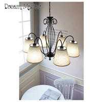 Korean chandelier American garden simple living room bedroom restaurant chandelier Nordic Iron Chandelier