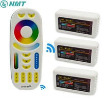 1 pc 2.4G LED Remote Controller Mi Light Touch Screen RF + 4pcs 4-Zones RGB + CCT Control for Led Strip Bulb Downlight