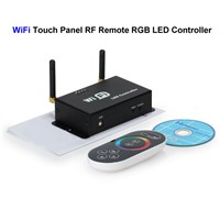 3pcs WiFi RGB LED Controller Touch Panel Screen RF Remote Control For SMD 3528 5050 RGB LED Rigid Strip