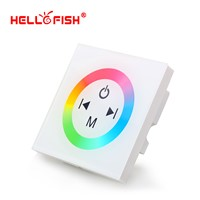 White Glass Touch Panel RGB Full Color LED Controller DC12V -24V 4 Channel For LED Strip Home Lights Wall Washer