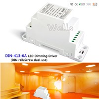 LTECH DIN-413-6A CV DALI Dimming Driver(DIN rail/Screw dual-use);DC12V-24V input;6A*3CH MAX 18A output for led light