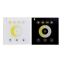 Dual white CCT Touch Panel controller Wall-mounted color Temperature adjustable controller dimmer DC12V/24V 12A for CT LED Strip