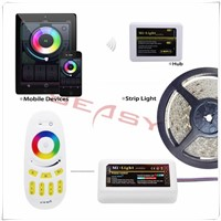 Mi Light 2.4G WiFi Controller+ RF Remote Control + 1*4-Zone RGBW Controller of 2.4G Wireless RGBW Control System