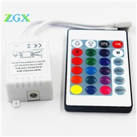 DC12V LED controller 3528 5050 2835 colorful lamp led remote controller 24 key infrared RGB controller