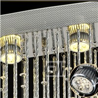 wholesale flush mount oval modern chandelier lighting crystal lamp lustre LED Ceiling lamp