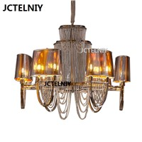 Nordic chandelier luxury chain tassel lamp lights sitting room bedroom villa hotel hall 12lights  Dia800mm