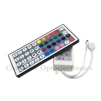 10PCS 44 Keys Dual Connectors IR Remote RGB Controller Output DC12V 2 Ports Dimmer For 3528 5050 SMD RGB LED Strip light Control