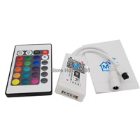 RGB LED WiFi Controler DC 12V 4A x 3CH 144W MIni Wifi Controller with 24 Key IR Infrared Remote for 5050 RGB LED Strip Tape