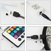 RGB LED Strips Controller IR Remote,24key infrared controller for 5050/3528 LED