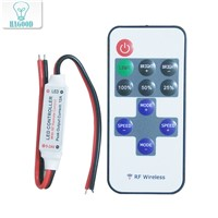 Hot Sale! LED Remote Dimmer Controller RF Wireless Remote 12A 5V-24V Mini Controller for LED strip