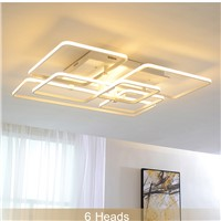 GMTM Square Circel Rings Chandelier For Living Room Bedroom Home Modern Led Ceiling Chandelier Lamp Fixtures