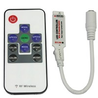 Mini RF RGB LED Controller with Wireless Remote Control for 5050 3528 LED Strip