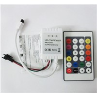 easy WS2811 controller 24key DC12V LED pixel controller 231changes pixel remote controller for WS2811 led module