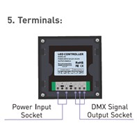 Ltech 4 zone 12/24v wall touch led controller dimmer,output dmx signal,connect dmx decoder or dmx lamp,5 year warranty