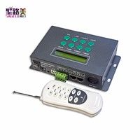 LED RGB/DMX Controller with remote ,39 changes modes ,common ,receive DMX512 signal,with time and date function Fast shipping