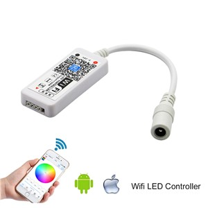 WIFI Wireless LED Smart Controller Working with Android and IOS System Mobile Phone Free App for 5050 3528 RGB LED Strip Light